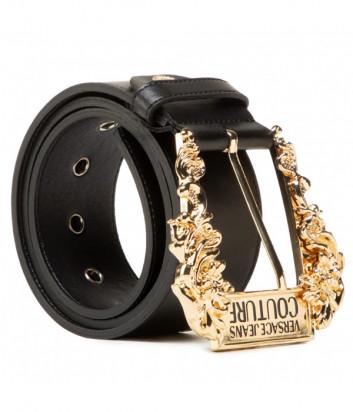Кожаный ремень VERSACE Jeans Couture D8VWAF02 черный
