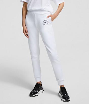 Спортивные брюки KARL LAGERFELD 210W1070 белые