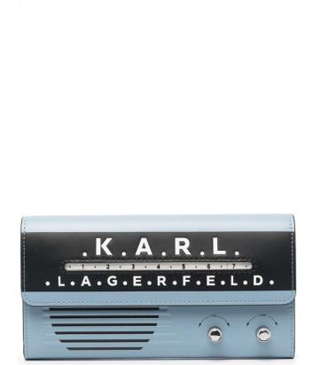 Кожаное портмоне KARL LAGERFELD 211W3239 в форме радио