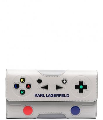 Кожаное портмоне KARL LAGERFELD 211W3238 в форме джойстика