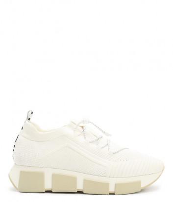 Текстильные кроссовки VIC MATIE 1Z5436D молочные