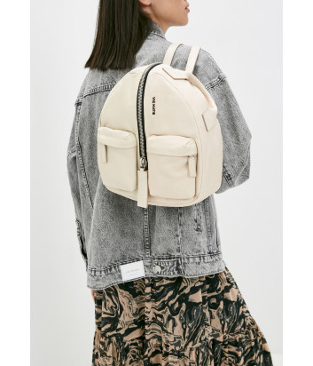 Кожаный рюкзак VIC MATIE Aiko 1Z0566T с внешними карманами бежевый