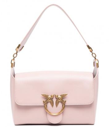 Кожаная сумка на плечо PINKO Shoulder Love Bag Simply 1P221W нежно-розовая