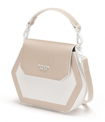 Кожаная сумка TOSCA BLU Tropea TS21YB172 бело-бежевая