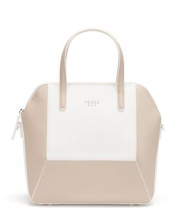 Кожаная сумка TOSCA BLU Tropea TS21YB170 бело-бежевая