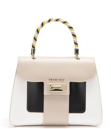 Кожаная сумка TOSCA BLU Costa Smeralda TS211B120 песочная