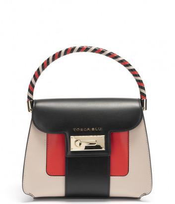 Кожаная сумка TOSCA BLU Costa Smeralda TS211B121 черная