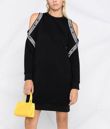 Платье KARL LAGERFELD 211W1362 с открытыми плечами черное