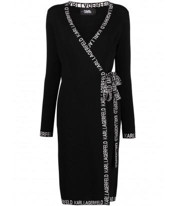 Платье KARL LAGERFELD 211W1363 на запах черное