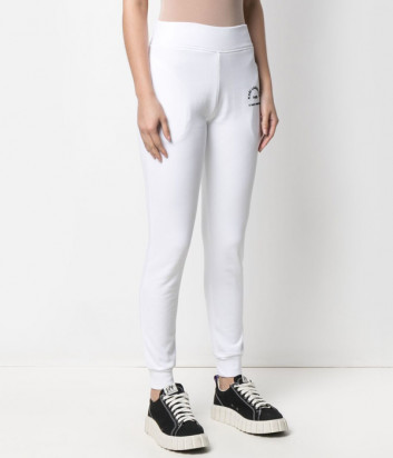 Спортивные брюки KARL LAGERFELD 210W1070 белые с логотипом