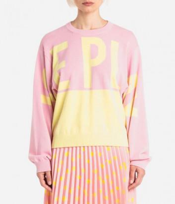 Джемпер ICE PLAY 21EU2M0A0069501 розово-желтый с логотипом