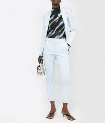 Женский костюм KARL LAGERFELD 211W1406/1004 пиджак и брюки голубой