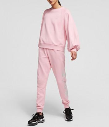 Женский костюм KARL LAGERFELD 211W1805/1063 толстовка и брюки розовый