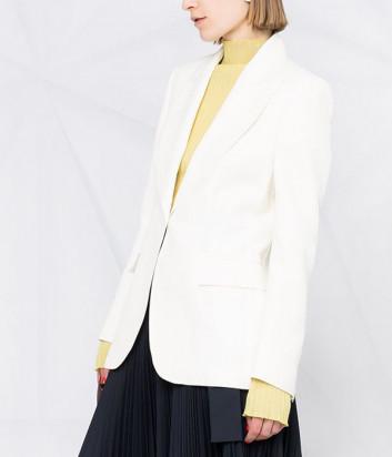 Приталенный пиджак P.A.R.O.S.H. RAISA D420104 на пуговицах белый