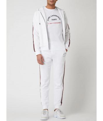 Спортивный костюм KARL LAGERFELD 705071/2 511900 белый с лампасами