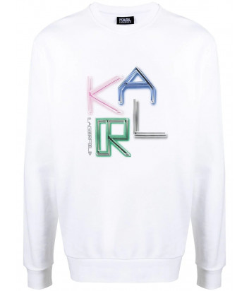 Толстовка KARL LAGERFELD 705063 511940 белая с цветным логотипом