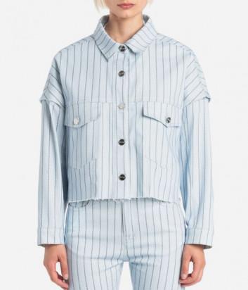 Джинсовый пиджак ICE PLAY 21EU2M0O0316032 голубой с принтом