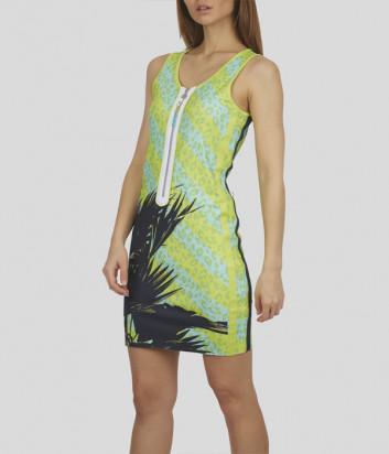 Платье SPORTALM 9515536779 зеленое с анималистическим принтом