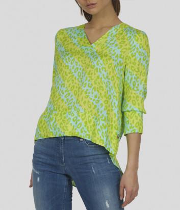 Блуза SPORTALM 9515048038 зеленая с анималистическим принтом