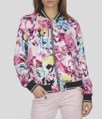 Розовый бомбер SPORTALM 9510043036 с ярким цветочным принтом