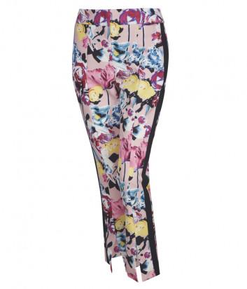 Розовые брюки SPORTALM 9516503060 с ярким цветочным принтом