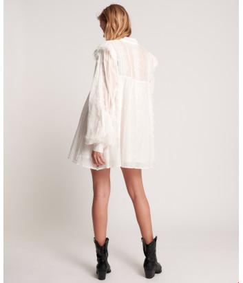 Воздушное платье ONE TEASPOON 23820 декорировано кружевом белое