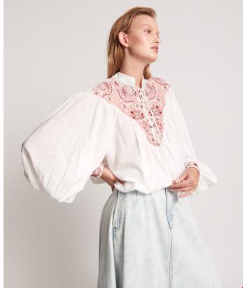 Блуза ONE TEASPOON 24101 Desert Floral белая с вышивкой