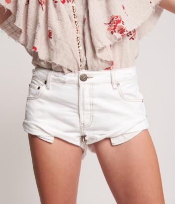 Джинсовые шорты ONE TEASPOON 23788 White Beauty белые