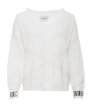Белый джемпер ICEBERG A0177604 с логотипом на рукавах