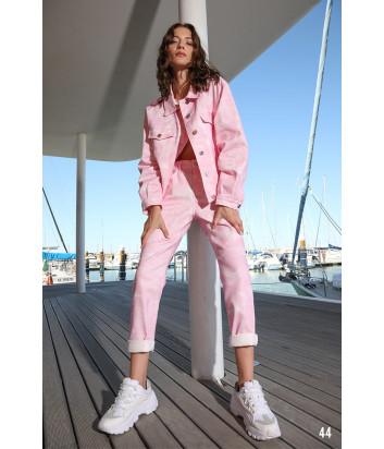 Джинсовая куртка ICE PLAY 21EU2M0O0216031 розовая с принтом