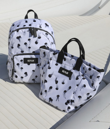 Белый рюкзак ICE PLAY 72206963 с принтом черных медуз