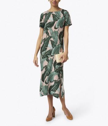 Шелковое платье WEEKEND Max Mara Sir WE52212111 пальмовый принт