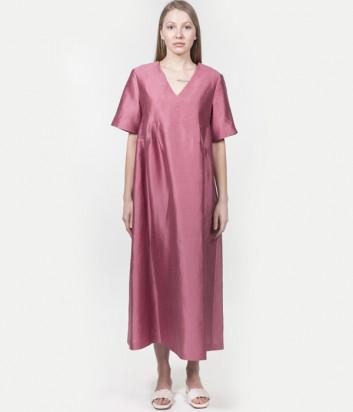 Длинное льняное платье WEEKEND Max Mara Balia WE52211711 розовое
