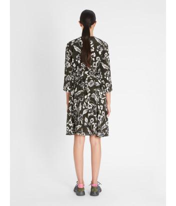 Шелковое платье WEEKEND Max Mara Fischio WE52210717 черное с цветочным принтом