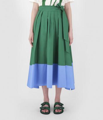 Длинная юбка WEEKEND Max Mara Oblare WE51010411 зелено-голубая