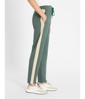Трикотажные брюки WEEKEND Max Mara Florida WE57810217 зелено-бежевые