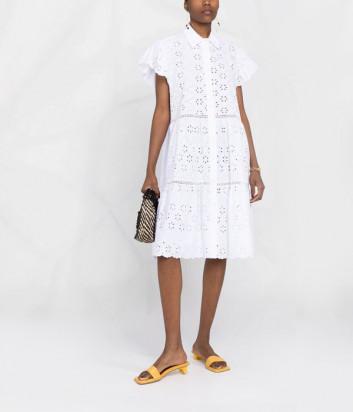 Ажурное платье P.A.R.O.S.H. Curcuma D724184 белое