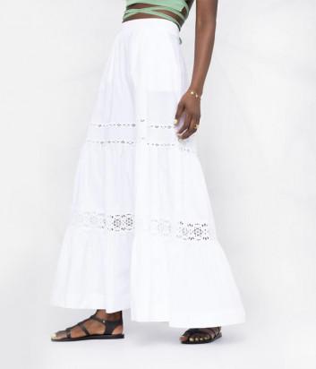 Длинная ярусная юбка P.A.R.O.S.H. Canyox D620424 белая