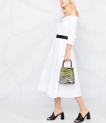 Платье KARL LAGERFELD 211W1303 с открытыми плечами белое