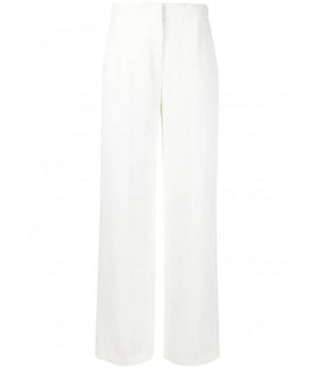 Классические белые брюки KARL LAGERFELD 211W1003 с разрезами