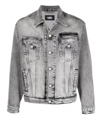 Джинсовая куртка KARL LAGERFELD 211W1421 модель унисекс серая