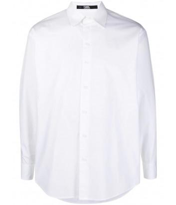 Белая рубашка KARL LAGERFELD 211W1620 модель унисекс