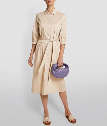 Платье-рубашка D.EXTERIOR 52532 бежевое