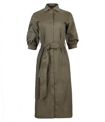 Платье-рубашка D.EXTERIOR 52532 цвета хаки