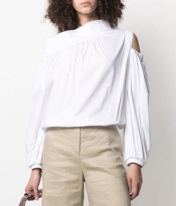 Белая блуза D.EXTERIOR 52544 асимметричного кроя