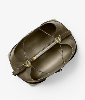Кожаная сумка MICHAEL KORS Mercer Gallery Medium 30F9GZ5L6L цвета хаки