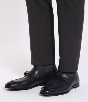 Кожаные туфли FABI 0252 синие
