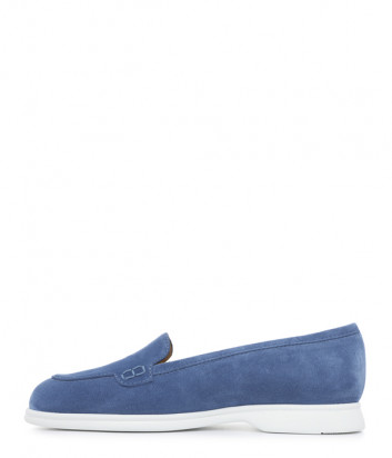 Замшевые лоферы GIOVANNI FABIANI 21104 синие