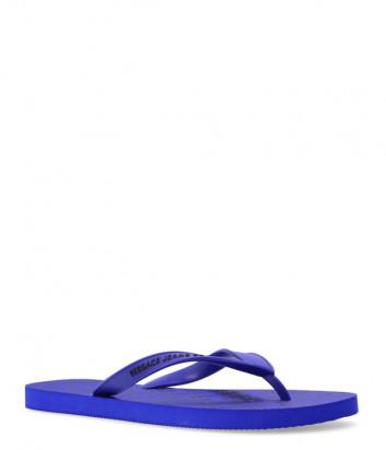 Вьетнамки VERSACE Jeans Couture E0YWASQ7 синие с логотипом