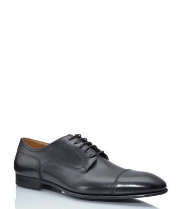 Мужские туфли FABI 9852 в гладкой коже черные